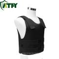 Black Concealable Kevlar Bulletproof vest Lightweight Comfortable Shirt NIJ IIIA for Personal Protection