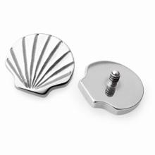 High Polished ASTM F136 Titanium Shell Dermal Anchor Top Body Piercing
