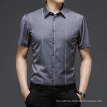 Summer Thin Men's Short-Sleeved Shirts Wear Middle-Aged Business Casual Half-Sleeved
