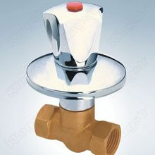 Brass Shower Valve With Stainless Steel Flange And Zinc Knob