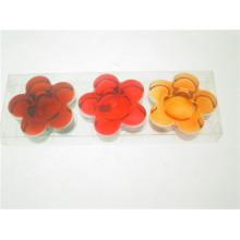 Claro flor em forma de vidro titular tealight wtih caixa de PVC para o outono (DGH8.6-8-3)