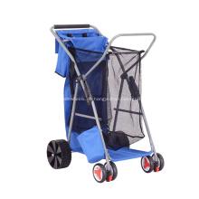 Langlebig Angeln Falten Rollen Beach Trolley Warenkorb mit Einkaufstasche
