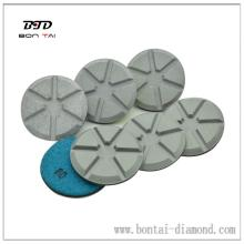Ceramic transitional polishing pad to scratch quick removal