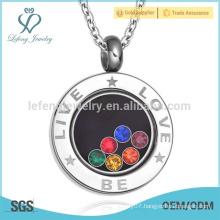 Hot sale round pendant jewelry,love pendants,pendants design