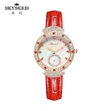 Relógio feminino SKYSEED com quartzo à prova d'água de diamante