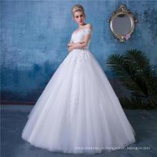 Классический плеча аппликация свадебное платье платье HA153 для новобрачных