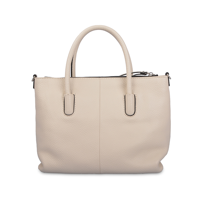 fashion high capacity simple leather tote bag lady bag