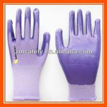 Nylon gestrickte Gartenarbeit Nitril beschichtete Handschuhe ZMR778