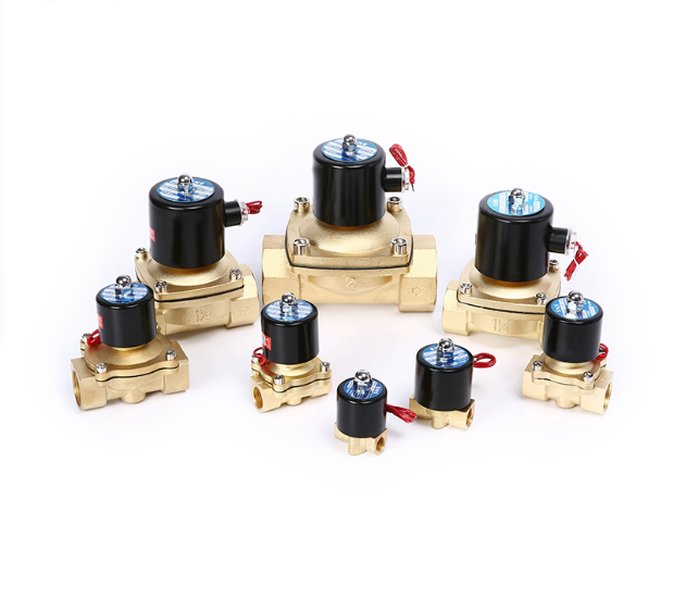 different sizes of 2w solenoid valves