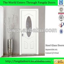 3/4 овальная стеклянная вставка основной входная дверь дизайн