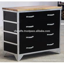 Industrial Drawer Cabinet Black Color New Design