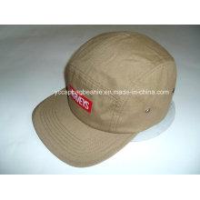 5 painel de lona Flat Brim Camo Hat
