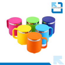 Tasse colorée en acier inoxydable et coupe-eau pour enfants