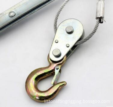 wire rope puller hook