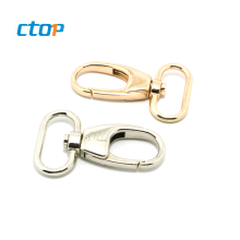 Custom high quality bag metal spring hook aluminum handbag hook