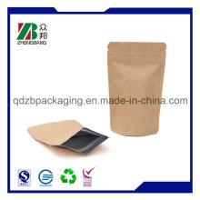 Сумка из крафт-бумаги с Ziplock для чая / кофе