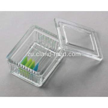 I-Glass Staining Jar 10pcs nge-Glass Lid, Uhlobo lwe-Schifferdecker