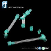 Tubo de extensión de circuito respiratorio quirúrgico médico