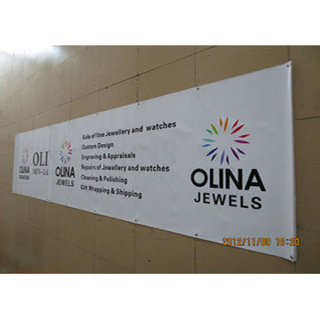 Single Side PVC Banner Printing dengan Grommet