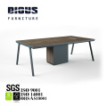 Smart light blue PVC edge modern conference table for meeting room