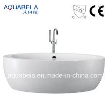 Wide Rim European Standard Acrylic Freestanding Bathtub