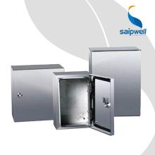 Boîte de clôture étanche extérieure en acier du projet SS304 SS316 400 * 300 * 150 Saip Saipwell IP65 Boîte de fixation murale en acier inoxydable