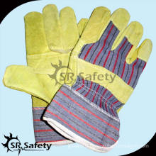 SRSAFETY pig split leather working gloves