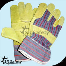 SRSAFETY свиные сплит-кожаные рабочие перчатки