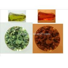 Изменение цвета драгоценных камней кубического циркония