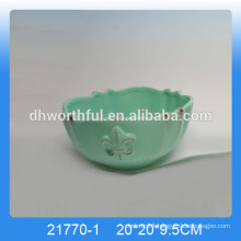 2016 old style kitchen bowls,ceramic bowls in green color