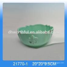 2016 старинная кухонная посуда, керамические чаши зеленого цвета