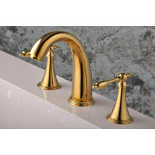 Baño plateado oro del baño del baño de la cubierta 3 PCS (Q30213G)
