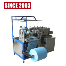 Disposable nonwovan bouffant cap making machine