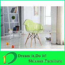 wholesale popular wood legs transparent chair