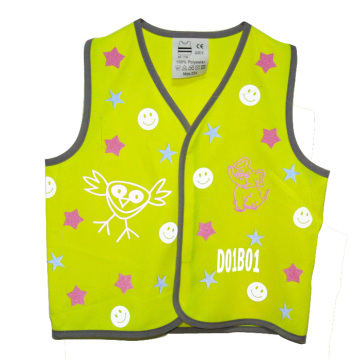 high visi excellent retro reflective performance and bonding properties vest with reflective heat transfer logo