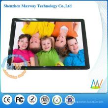 Moldura digital de design fino de 19 polegadas a3 com vídeo HD