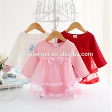 La marque faite sur commande vêtements bébé barboteuse bébé fille vêtements à manches longues coton enfants barboteuse pour bébé