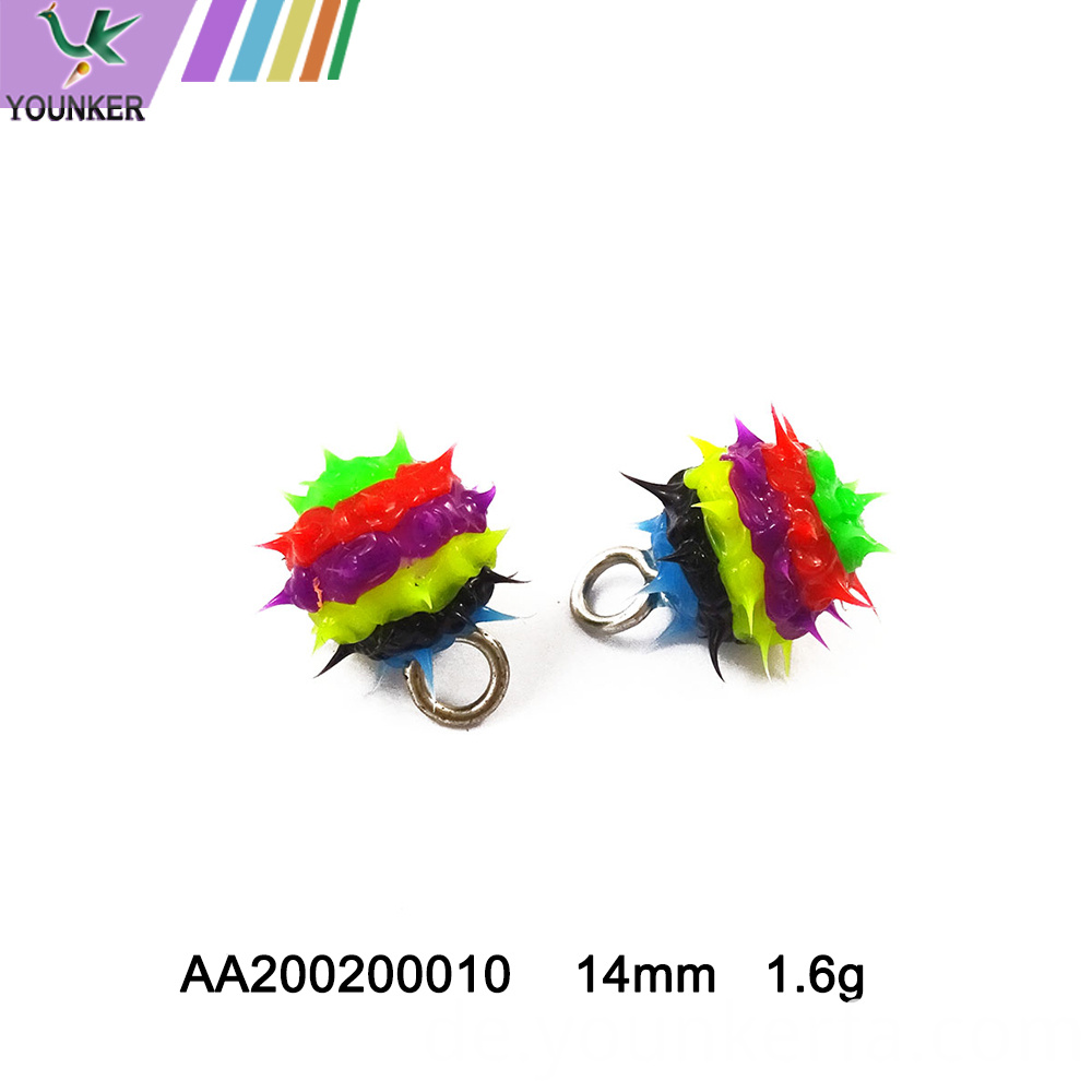 Mixed Color Soft Rubber Pendant