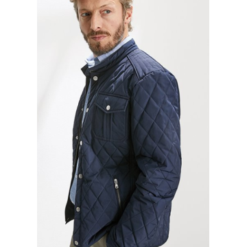 wasserabweisende MEN'S QUILTED JACKET - navy