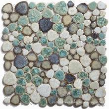 Irregular Shape Color Mixture Exquisite Glazed Ceramic Mosaic Tiles Craft