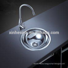 Stainless Steel SUS 304 small Round single wash basin