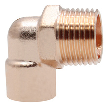 Copper Threaded Male Elbow
