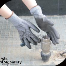 SRSAFETY противооткрывающиеся рабочие перчатки / защитные перчатки PU / изготовлены в Китае
