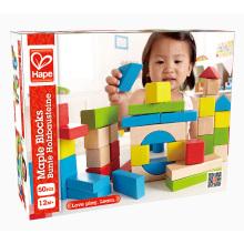 Hape Brand Non-Toxic Early Education Funny Rainbow Color Building Blocks