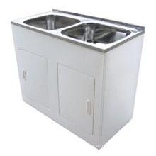 Cuarto de baño Blanco doble fregadero Lavabo (1160B)