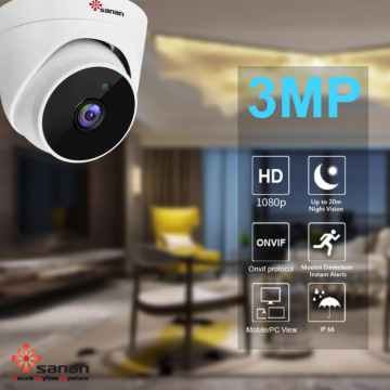 vandal-proof 3mp cctv dome kamera sistemi