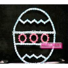 Tiara del día de fiesta del huevo de los accesorios lindos exquisitos del pelo de los cabritos