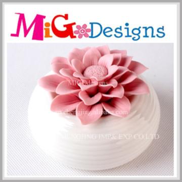 Lanterna exclusiva de cerâmica rosa de cerâmica de alta qualidade
