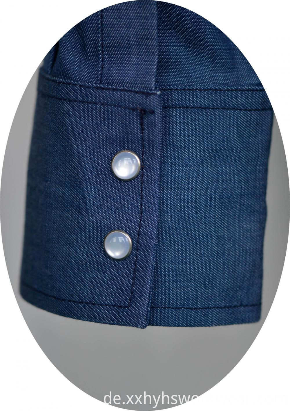 Fr Denim Pearl Button
