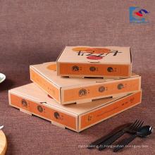 échantillon gratuit Boîte de papier de pizza ondulée imprimée sur mesure